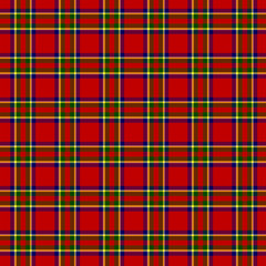Tartan Classic Style Red and Green Plaid