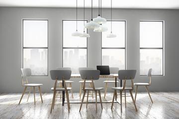 Concrete meeting room