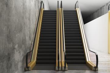 Abstract golden escalator
