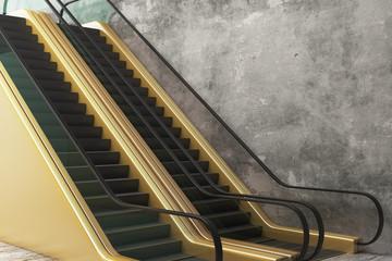 Creative golden escalator