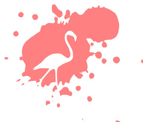 Flamingo im Farbklecks