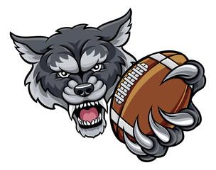 Wolf American Football Mascot
