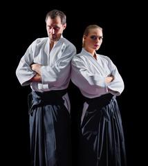 Foto op Aluminium Vechtsport Two martial arts fighters