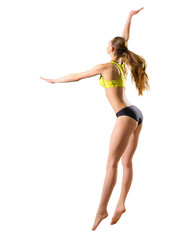 Woman beach volleyball player (ver without ball and net)