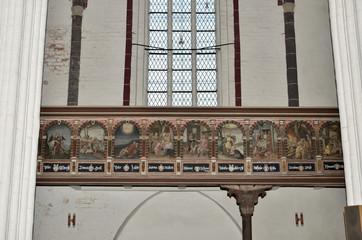 Bilderzyklus  an der Empore, Stephanskirche, Tangermünde