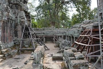 カンボジアのアンコール遺跡群のバンテアイグティ