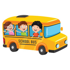 Vector Illustration Of School Children
