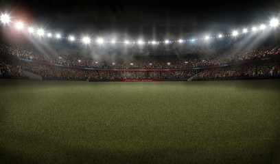 american football soccer stadium 3D rendering