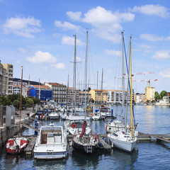 boats in the port of sete