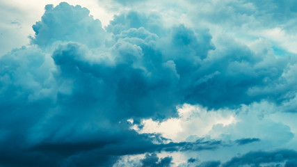 Moody blue storm clouds beautiful nature sky