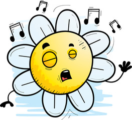 Cartoon Flower Singing