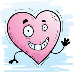 Cartoon Heart Waving