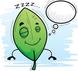 Cartoon Leaf Dreaming
