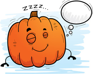 Cartoon Pumpkin Dreaming