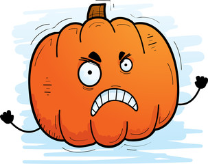 Angry Cartoon Pumpkin
