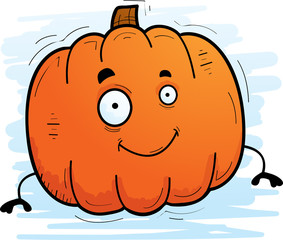 Cartoon Pumpkin Smiling