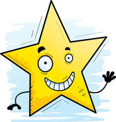 Cartoon Star Waving