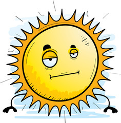 Cartoon Sun Bored