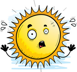 Scared Cartoon Sun