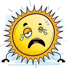 Cartoon Sun Crying