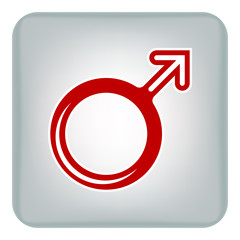 Vector image of a male gender. Flat icon