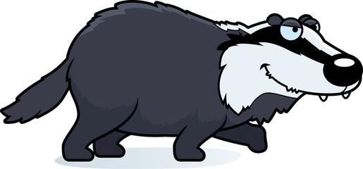 Cartoon Badger Stalking