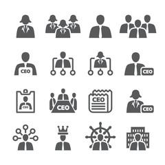CEO icon set