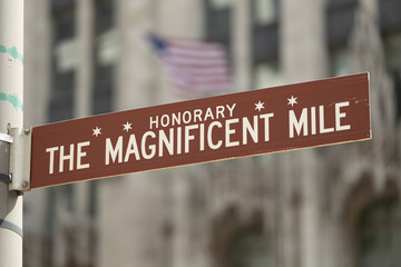 Chicago Magnificent Mile street sign
