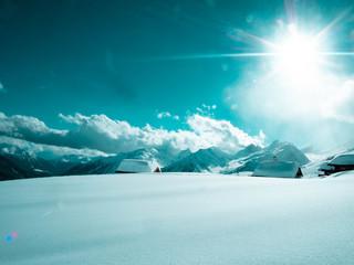 Sonniger Nachmittag im Lötschentaler Skigebiet