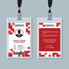 Creative Red ID Card Design Template