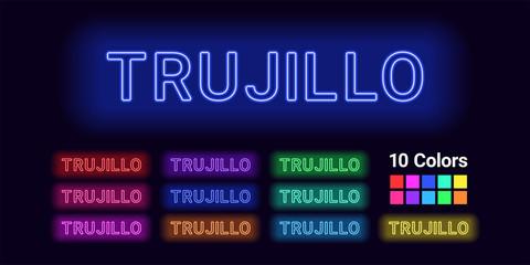 Neon name of Trujillo city
