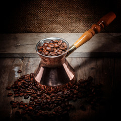 coffee beans and turk