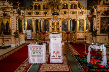 Interior Moldovan orthodox Church