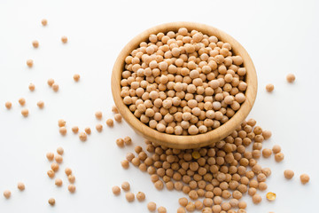 dry raw chickpeas in a bowl
