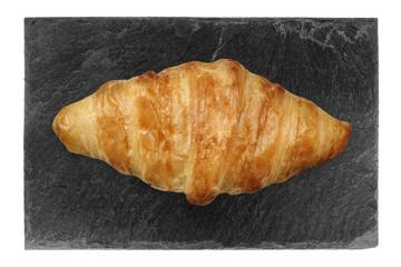 Croissant Hörnchen Frühstück auf Steinplatte