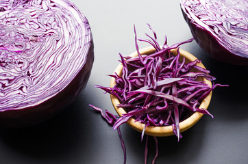 chopped red cabbage salad