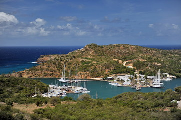 Antigua. This is how the English bay looks on the island after a sailing regatta