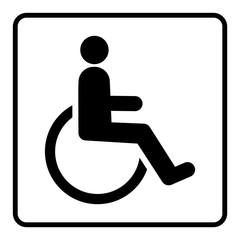 gz90 GrafikZeichnung - nmss5 NewModernSanitarySign nmss - german: Barrierefreies, behindertengerechtes WC - Toilette / Rollstuhl - english: handicap-accessible toilet - wheelchair - square xxl g6115