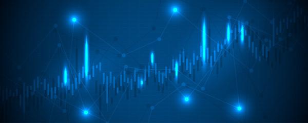 Financial data graph chart, economic statistics. Chart analytics economic concept. Business concept. Vector illustration.