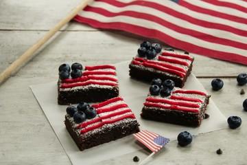 American Flag Brownies / 4th of July Memorial Day dessert