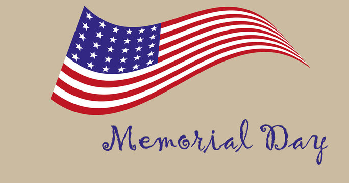 Memorial Day/In the picture, a whisper to the day of memory in the US, July 4, the United States flag, flag in the vector, with 50 firms, national consciousness, independence, patriotism.