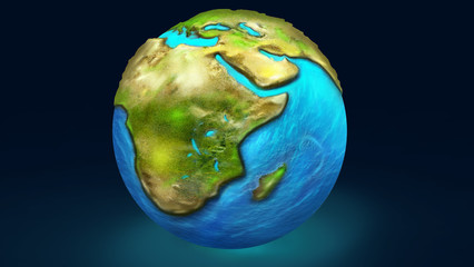 Illustration of a planet Earth.