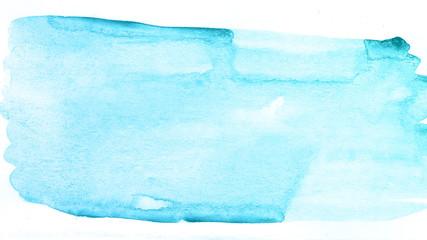 Blue watercolor paint ocean background.