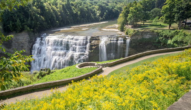 Letchworth State Park Middle Falls on the Genesee River