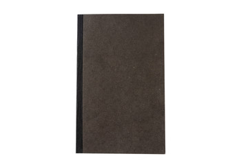 Black book isolated on white background, top view