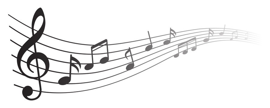 Music notes background, musical notes – for stock