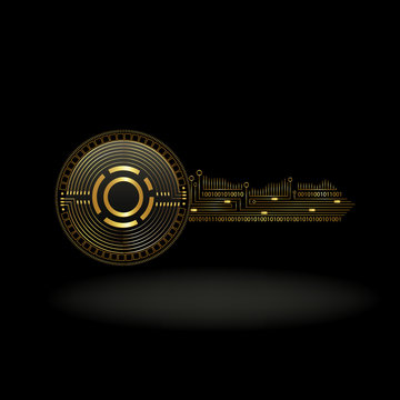 Aion Cryptocurrency Coin Private Key Background