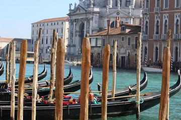 Venice, Italy - Gondolas on the Grand Canal