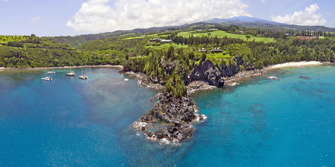 Honolua Bay / Kapalua / Slaughterhouse Beach Pano - Island of Maui, Hawaii