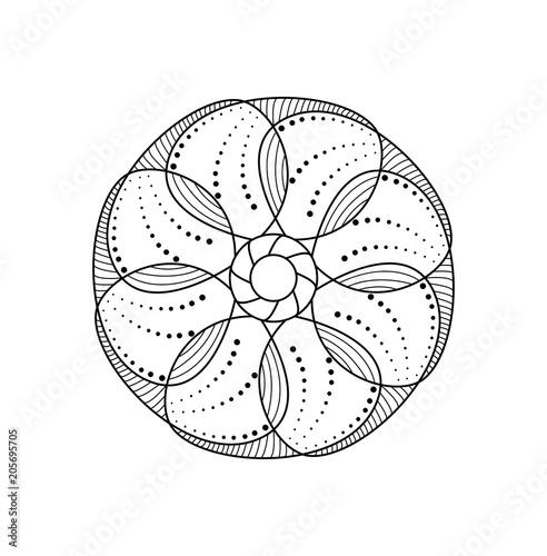 Mandala Vettoriale Da Colorare Per Adulti Stock Image And Royalty